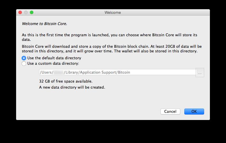 Bitcoin Core Welcome