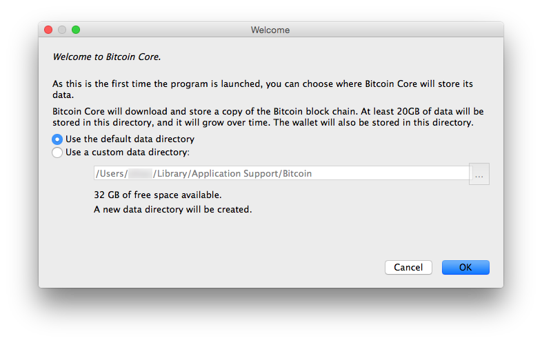 Bitcoin Core Welcome